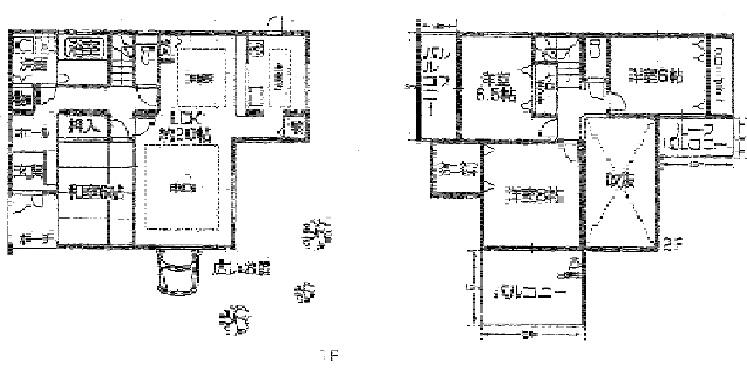 建物面積:33.6坪とゆとりある間取りです。リビングには吹き抜けも・・・実際に目で見て本物件の良さをお確かめください。