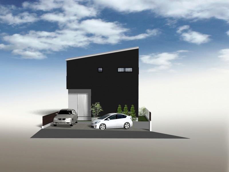 建物イメージパース ※自由設計用地ですので自由にお客様の理想のお家を建築していただきます。