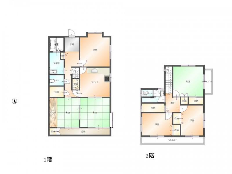 建物面積148.63㎡のゆったりとしたお家です。