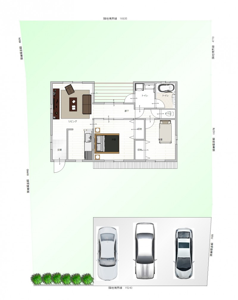 プラン例:平屋住宅