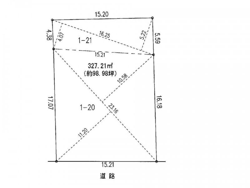 測量図:整形地