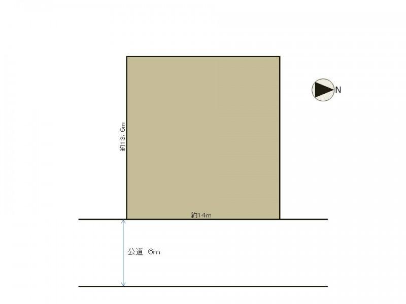 土地価格1720万円、土地面積193.94m2 区画図