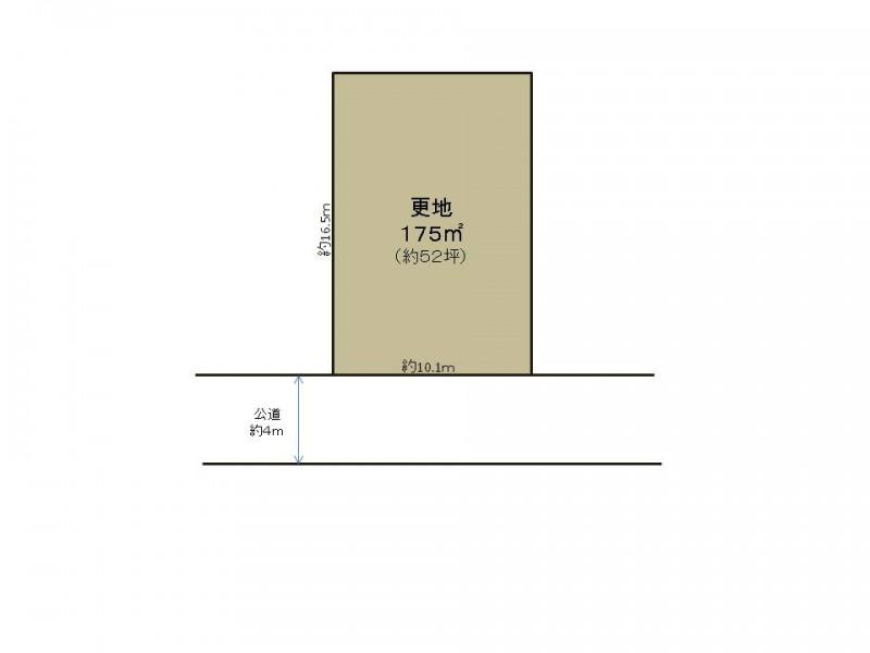 土地価格1380万円、土地面積175m2 南東向きの整形地