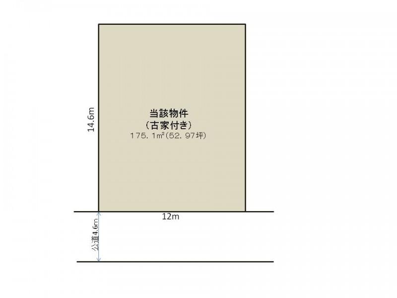 土地価格1250万円、土地面積175.1m2 区画図