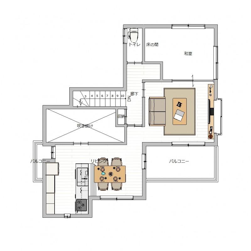 宝梅2丁目 2階間取り図