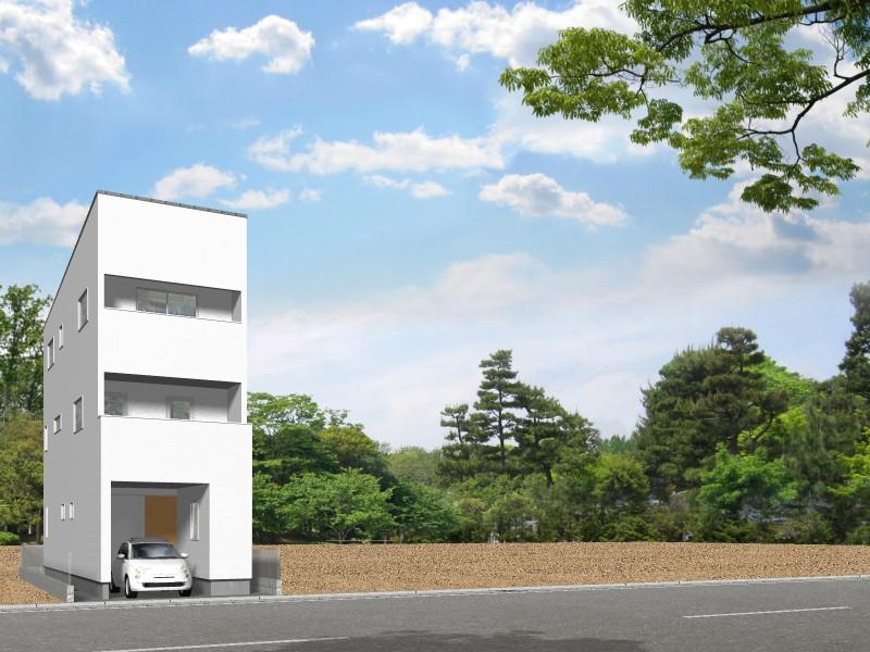【外観プラン例】土地価格580万円、土地面積71.93㎡ 建築家と打合せを重ね、こだわりの建物を建築して頂けます。
