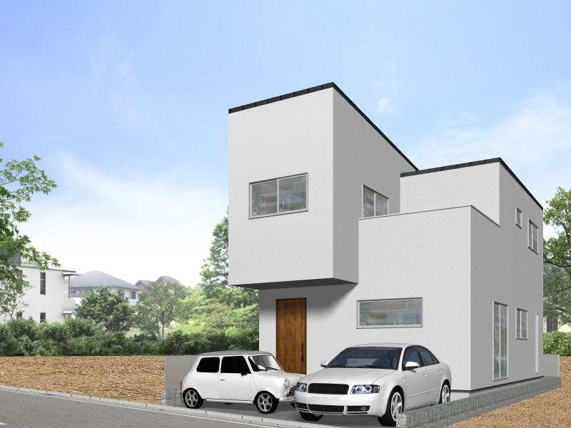 【外観プラン例】土地価格1480万円、土地面積100.85㎡ 建築家と打合せを重ね、こだわりの建物を建築して頂けます。