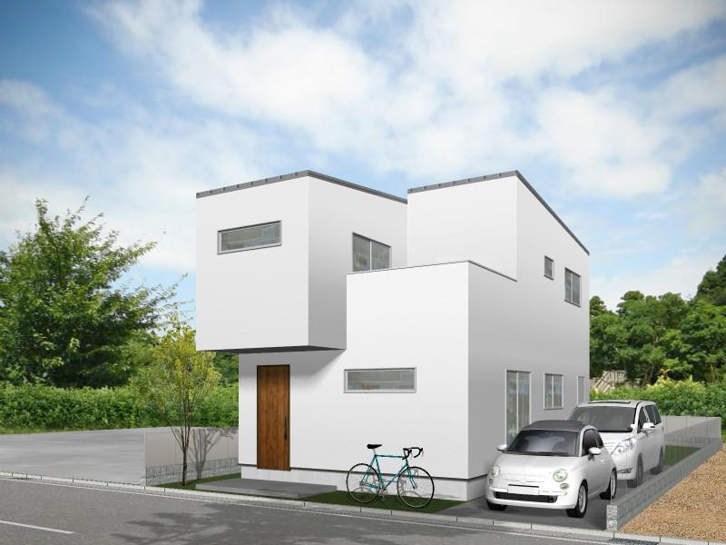 【外観プラン例】土地価格3880万円、土地面積171.62㎡ 建築家と打合せを重ね、こだわりの建物を建築して頂けます。
