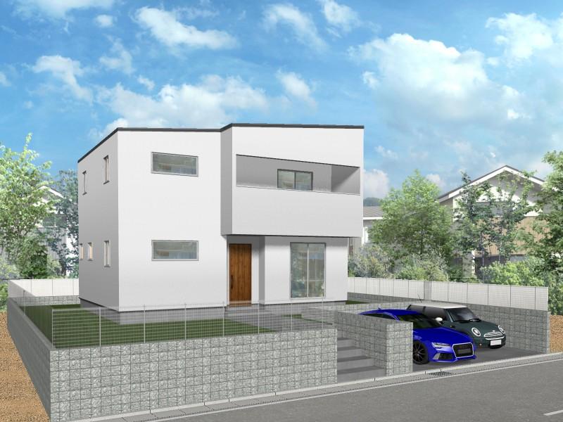 【外観プラン例】土地価格1980万円、土地面積223.76㎡ 建築家と打合せを重ね、こだわりの建物を建築して頂けます。