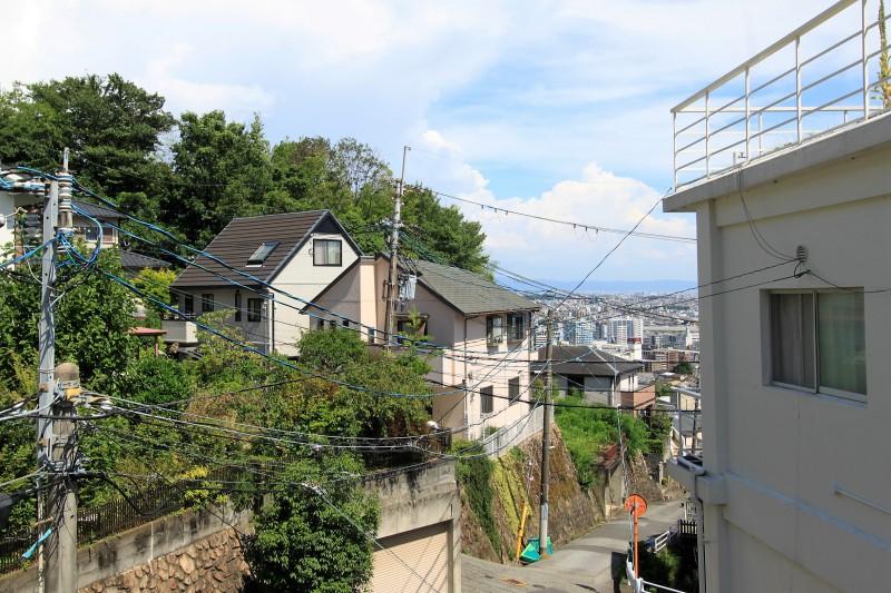 【眺望】2Fバルコニーからは大阪方面を一望できます。