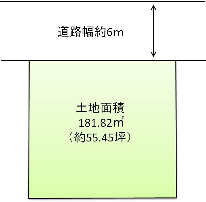 区画図:土地面積約55坪