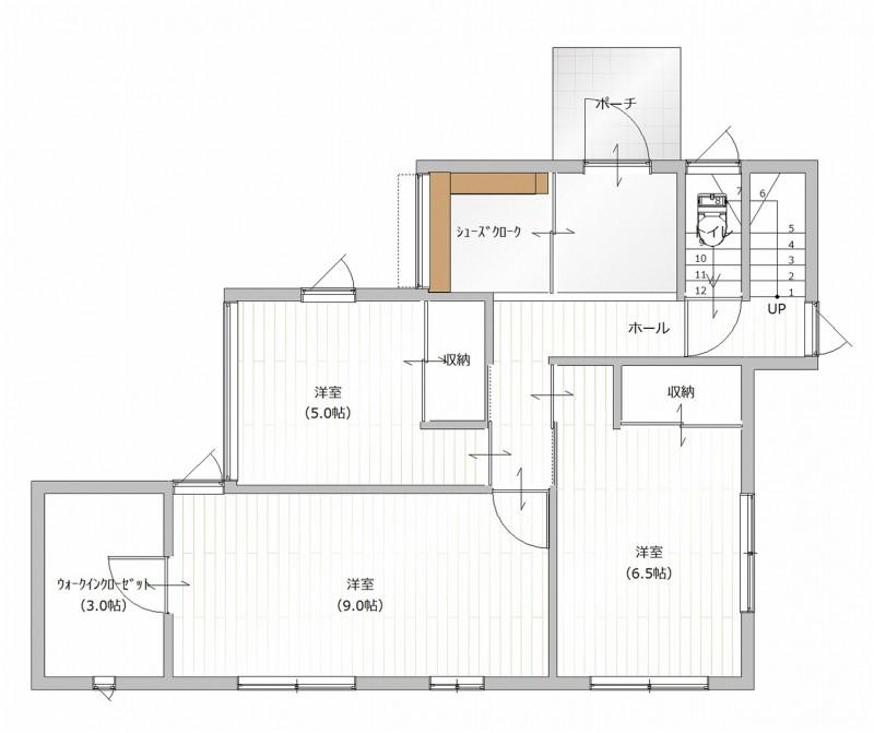 1Fプラン例(建物面積:108.11㎡)
